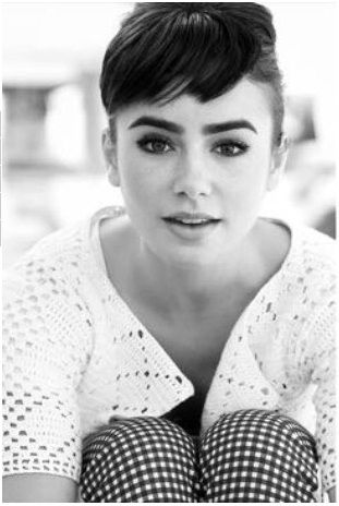 Lily Collins! so pretty, reminds me of Audrey Hepburn <3