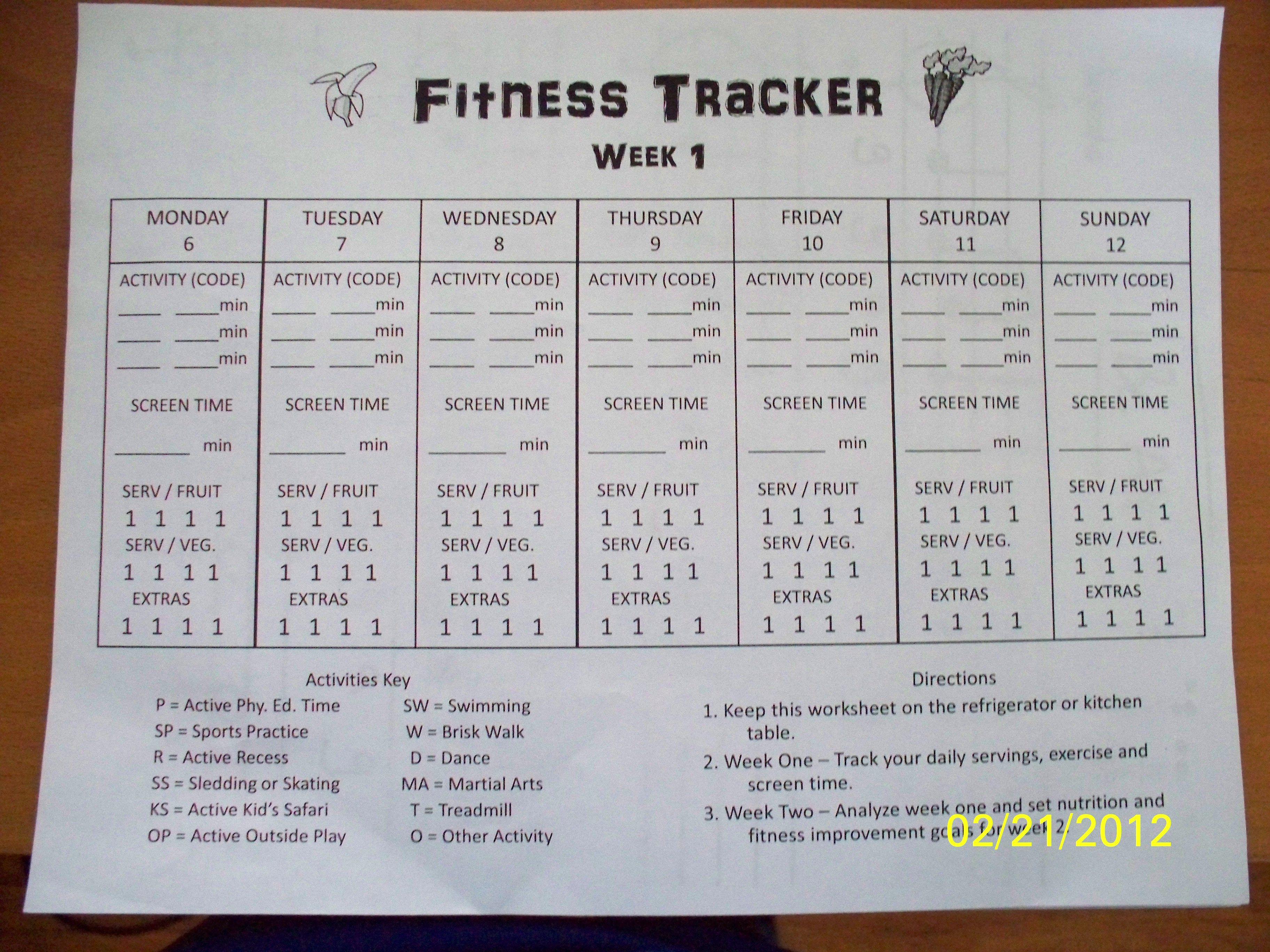 Fitness Tracker Love2practicemath