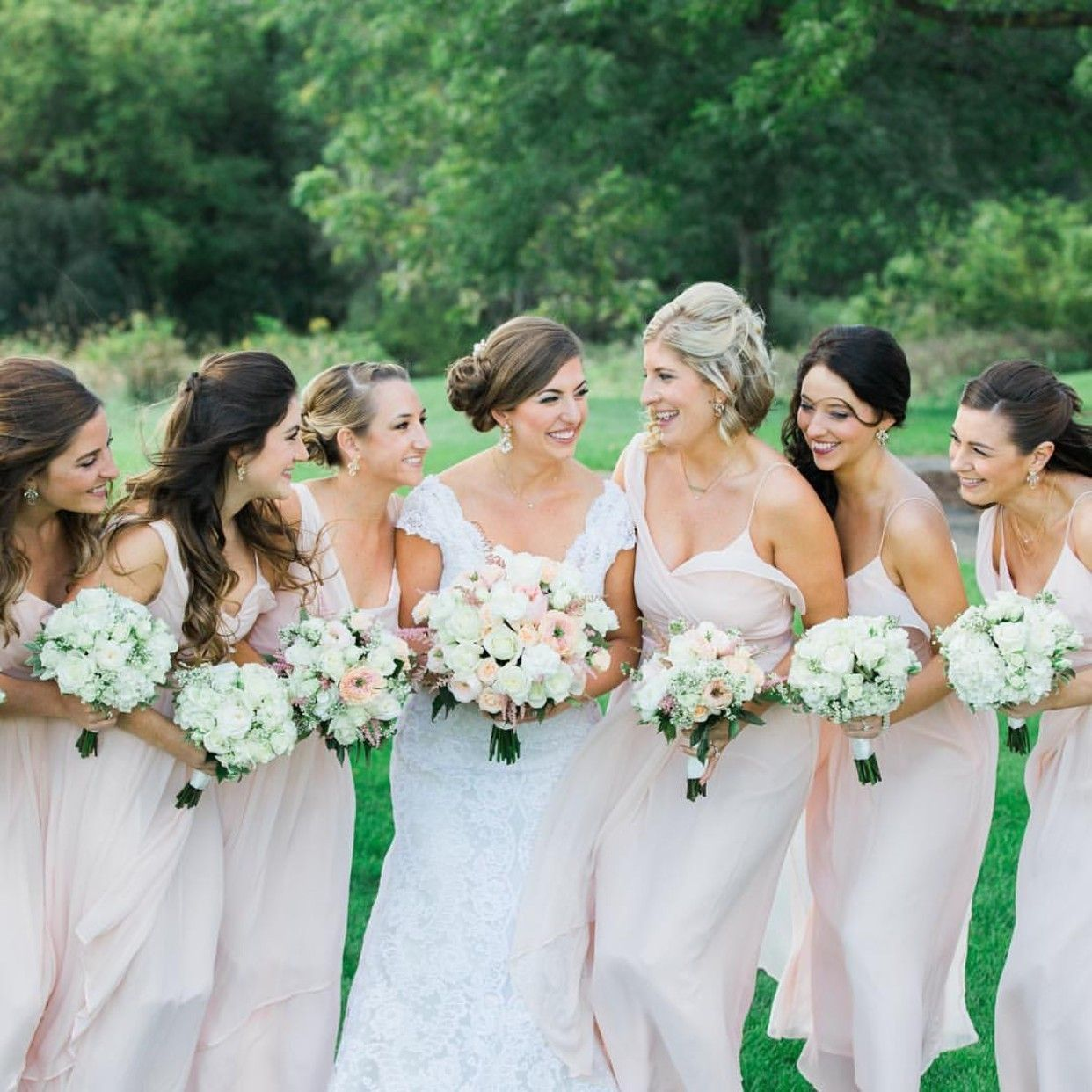 Just a bride her maids a real vow wedding blush catherine just a bride her maids a real vow wedding blush catherine bridesmaid ombrellifo Choice Image
