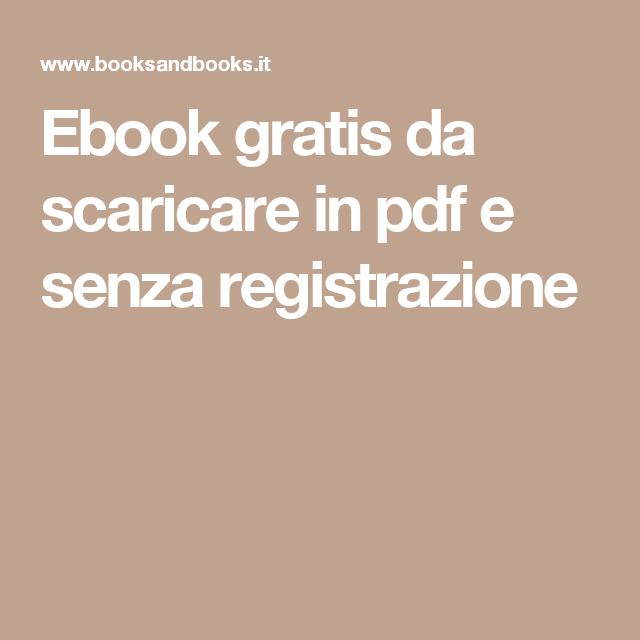 come scaricare ebook gratis senza registrazione
