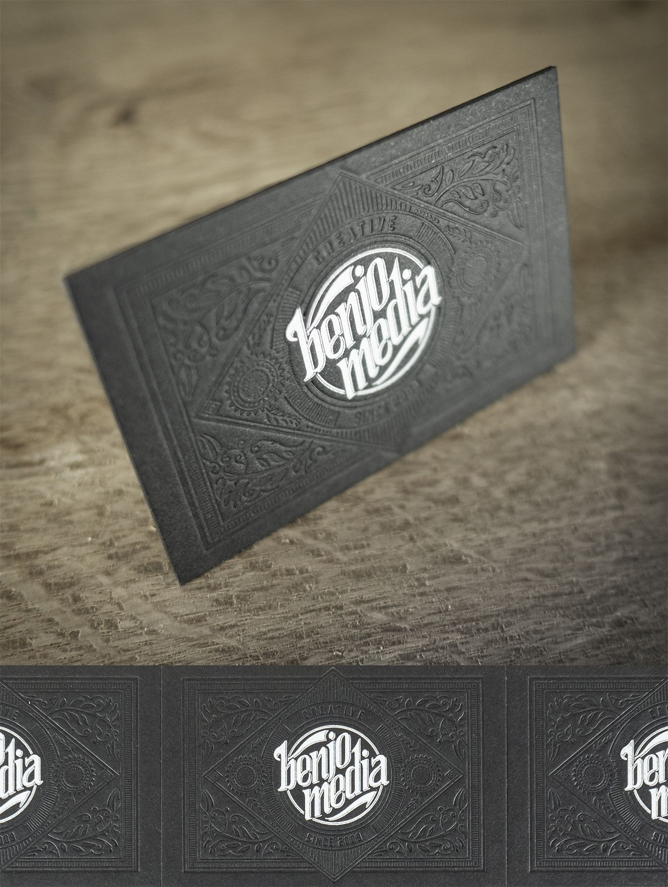 Visitenkarten Im Letterpress Und Heißfolienprägung Feine