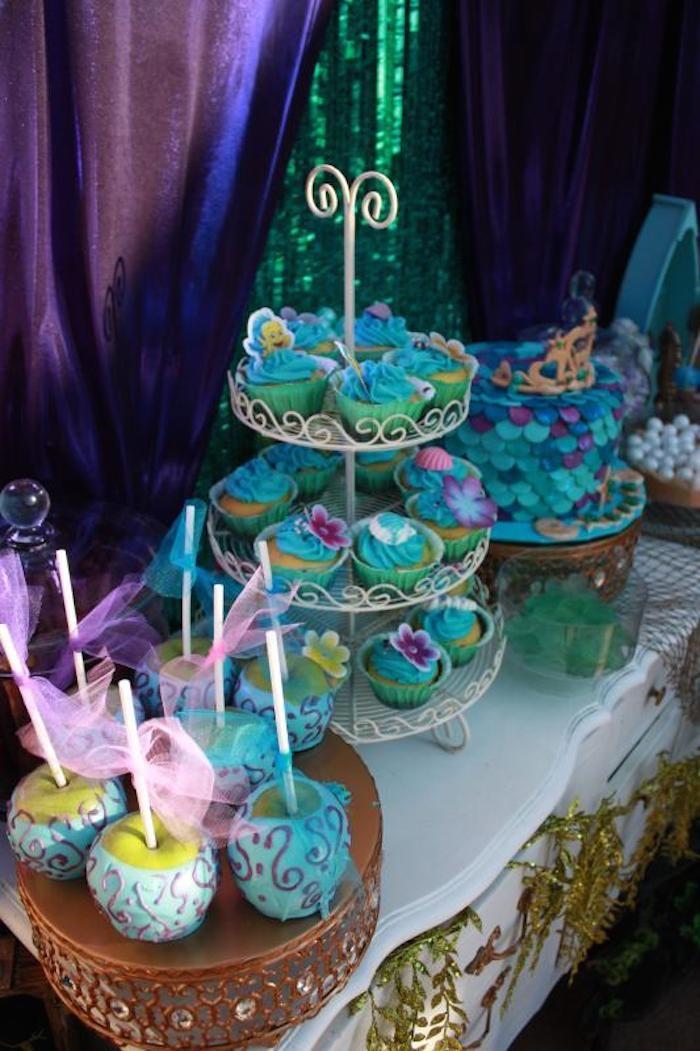 Little Mermaid themed birthday party via Karas Party Ideas