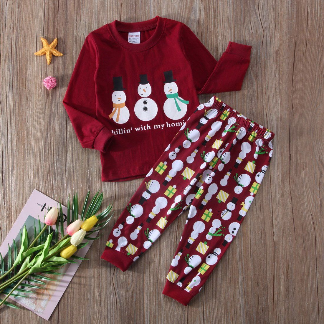 95a3e397d8 Toddler Kids Boys Girls Snowman Sweatshirt Pants Pajamas Set Christmas  Sleepwear Clothes 23 yrs Red    Want additional info  Click on the image.