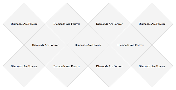 Walkthrough and demo of the CSS of a responsive diamond grid
