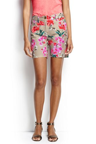 Women's Printed Bermuda Chino Shorts