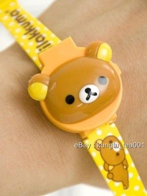 Kawaii Rilakkuma bear wristwatch from Kung Fu Tea Gifts. Super cute!