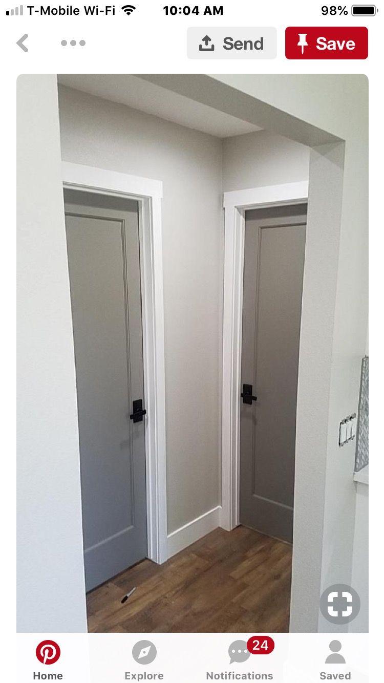 Doors In Main Hallway And Bathroom Idea Grey Interior Doors