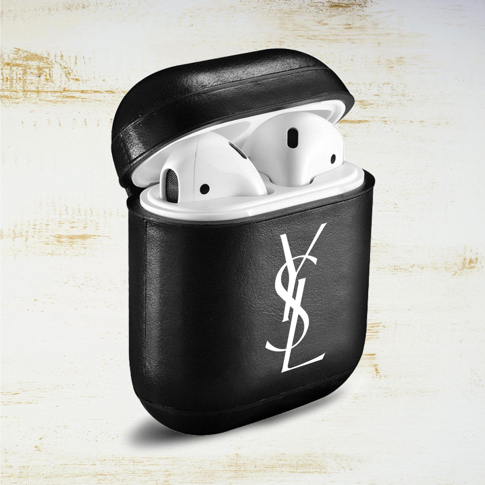 8fe1e065cac Inspired by yves saint laurent AirPod Case Apple AirPods logo   Etsy