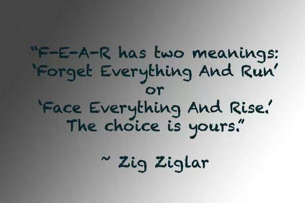 Fear Quote Zig Ziglar Zig Ziglar Quotes Fear Quotes