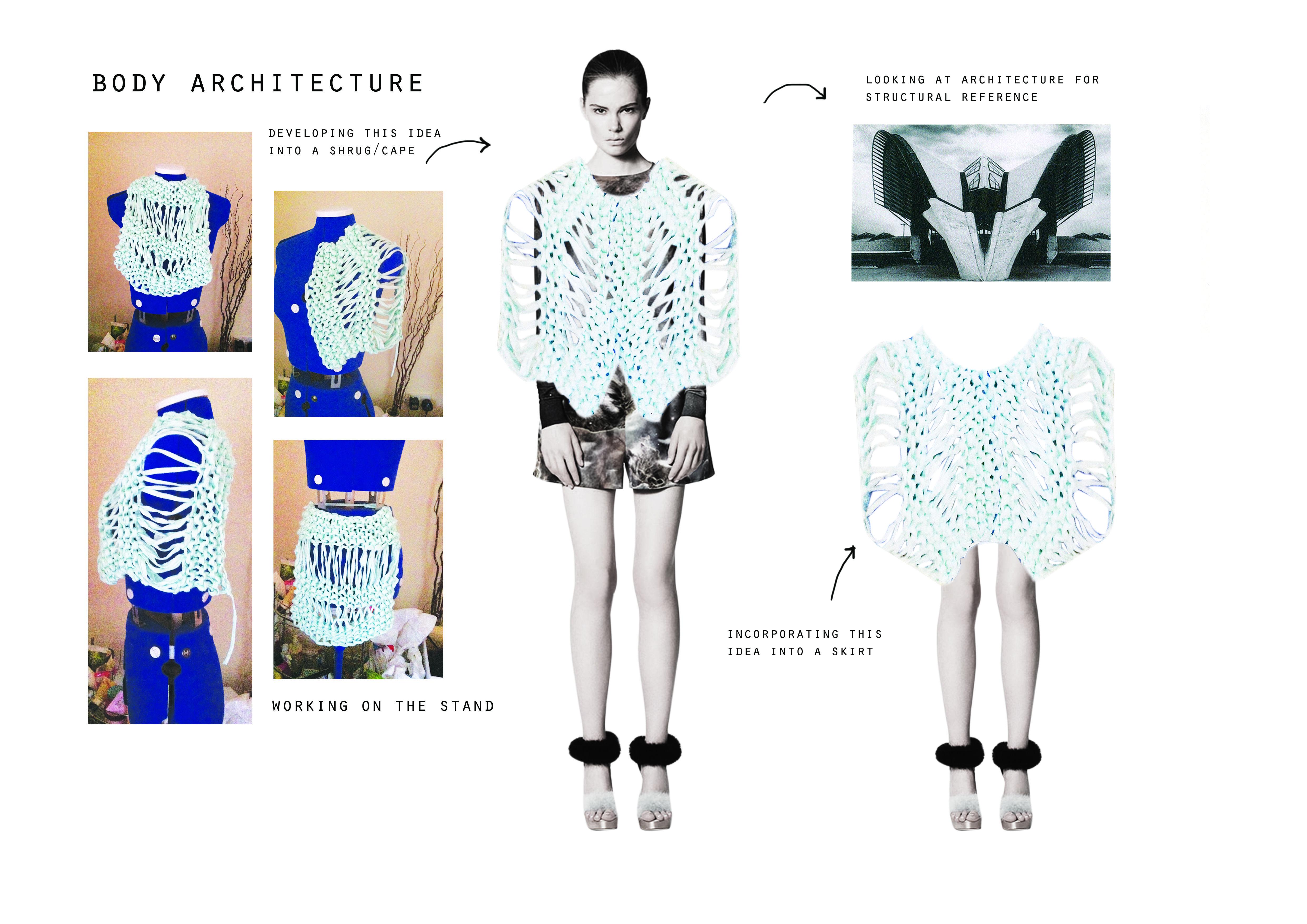 Fashion Sketchbook - knitwear design development; fashion student portfolio // Peach Grove