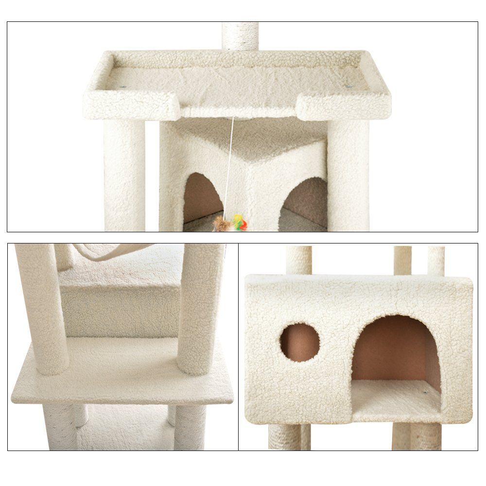 Merveilleux Vidagoods 72u0027 Big Fat Cat Tree Solid Condo Furniture Scratch Post Play  House CARB