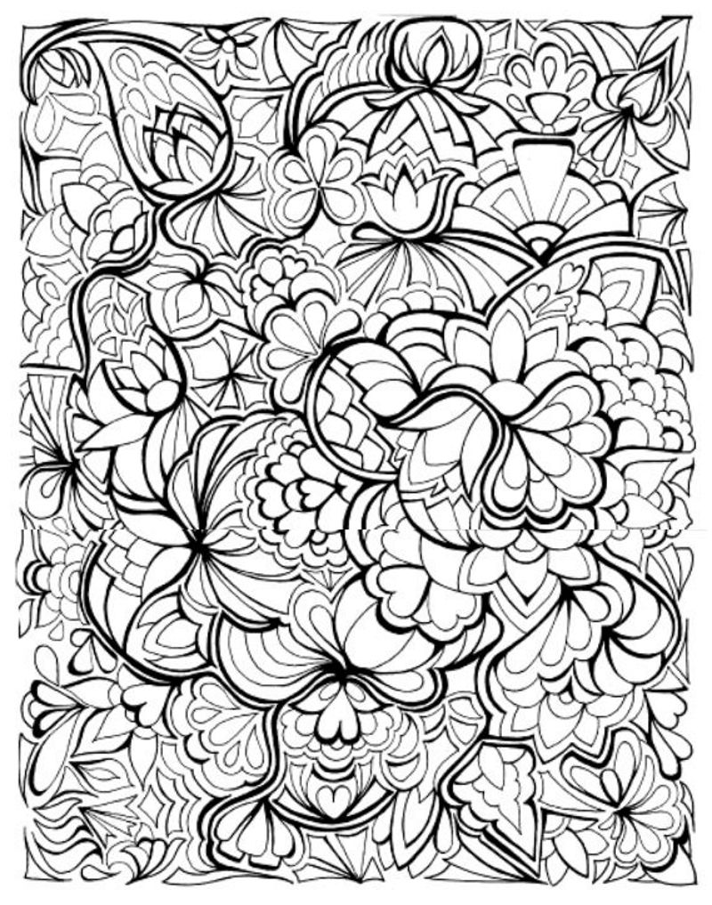 Creative Haven Floral Frenzy Coloring Book Dover Publications
