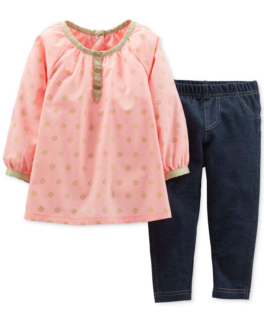 91777c0033146 Carter's Baby Girls' 2-Piece Top & Jeggings Set   Little Girl ...
