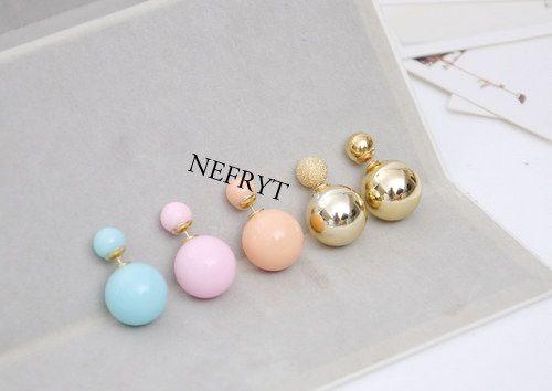 K274 Kolczyki Kule Tribal Hit 12 Kolorow 4405277637 Oficjalne Archiwum Allegro Earrings Pearl Earrings Jewelry