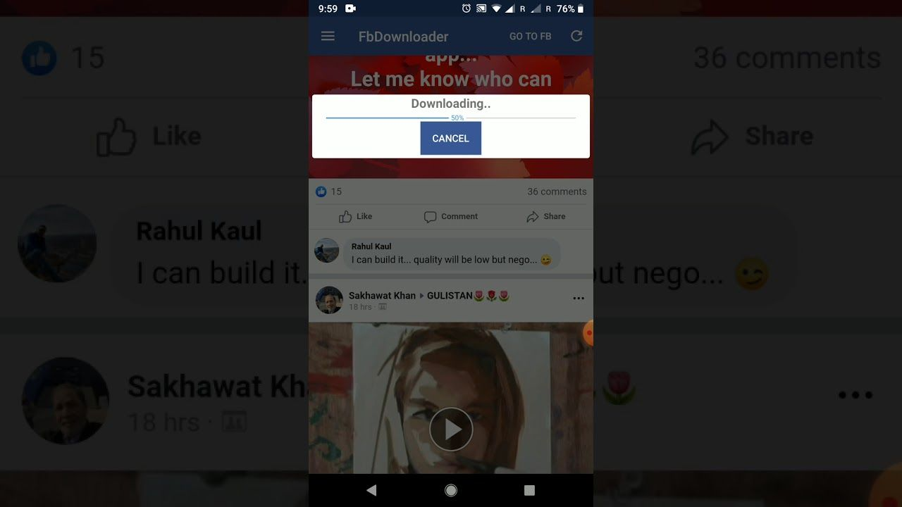 Android download video from URL and save to internal