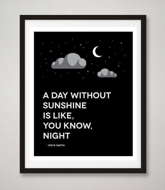 Steve Martin Quote Print A Day Without Sunshine Is Like