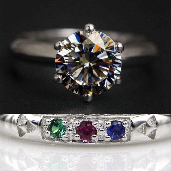 Legend Of Zelda Ocarina Time Spiritual Stones Wedding Band Promise Ring Engagement 2 Carat