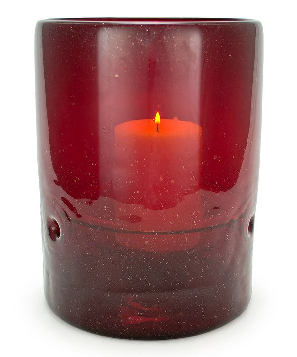 Look at this Crimson Red Recycled Candleholder on #zulily today!