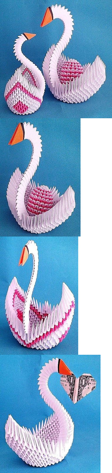 Hand-made 3D Origami Swan A Great Gift!