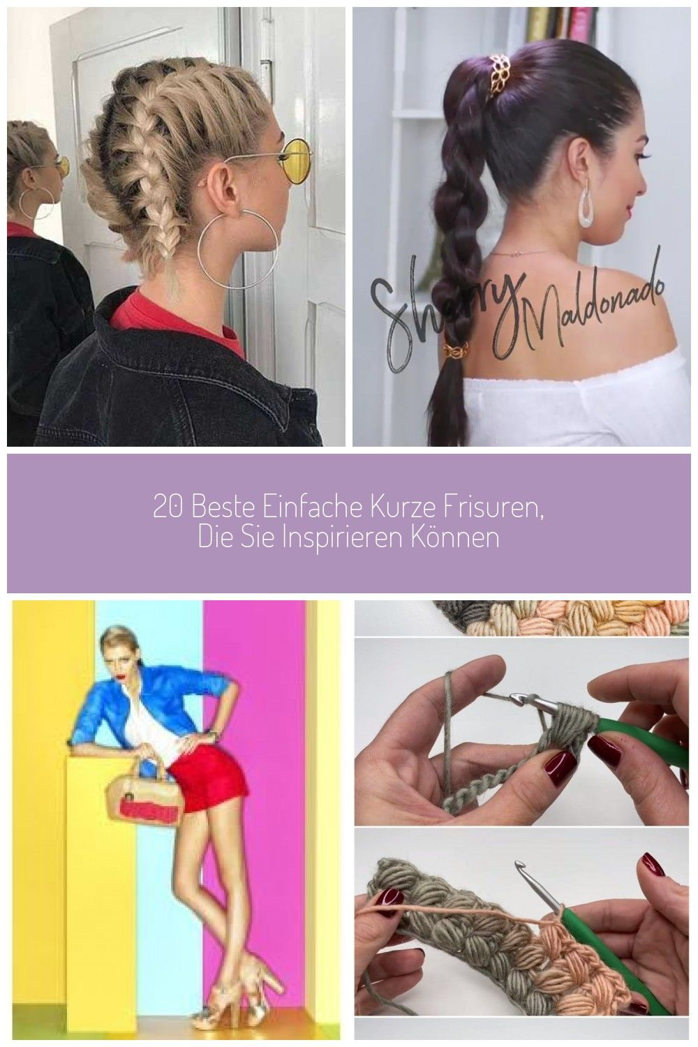 The beautiful short hairstyles we have prepared for you are impressively good The effect of short hairstyles on you will be quite a lot The photos show 20 short hairst #easy braids 20 best simple short hairstyles that can inspire youGive your ponytail a subtle touch with this super easy braiding method! braidsbraiding3dbraidroundbraidbraidhairhairstylehairtutorialvideotutorialshophudabeautyhudabeautyanadtasiabeverlyhillsLeather handbagsCrochet blankets beginner How To C