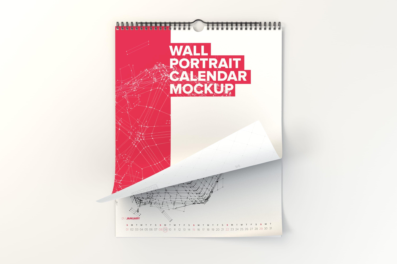 Wall Portrait Calendar Mockup Pack – Original Mockups   Mockups ...
