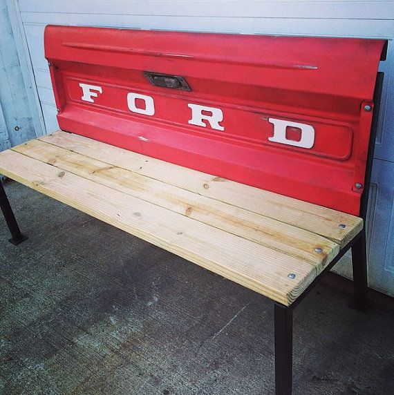 Vintage FORD tailgate bench unique art by NorthCountryTrading