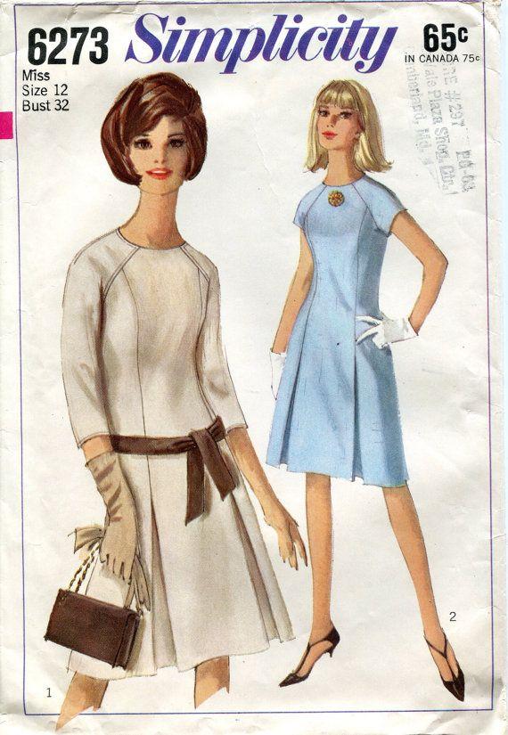 Vintage 1960s Dress Pattern Simplicity 6273 Size | figurines ...