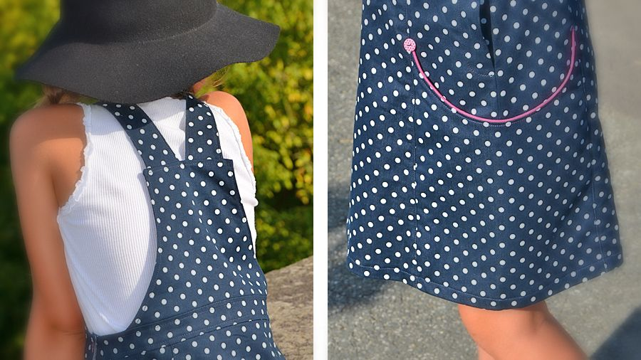 patron de couture pdf robe salopette enfant 2 ans, 4 ans, 6 ans, 8 ans, 10 ans et 12 ans robe late summer de lou&me                                                                                                                                                     Plus