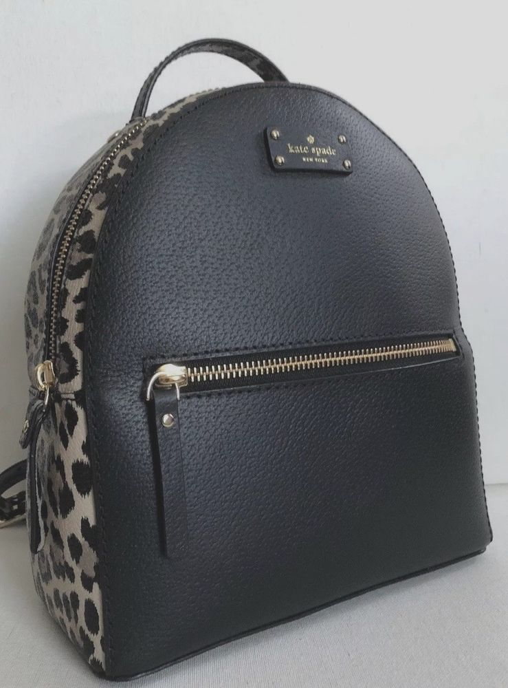 ce0ebb7357ac New Kate Spade Sammi Grove Street small Backpack handbag Leopard Black  Multi  katespade  BackpackStyle