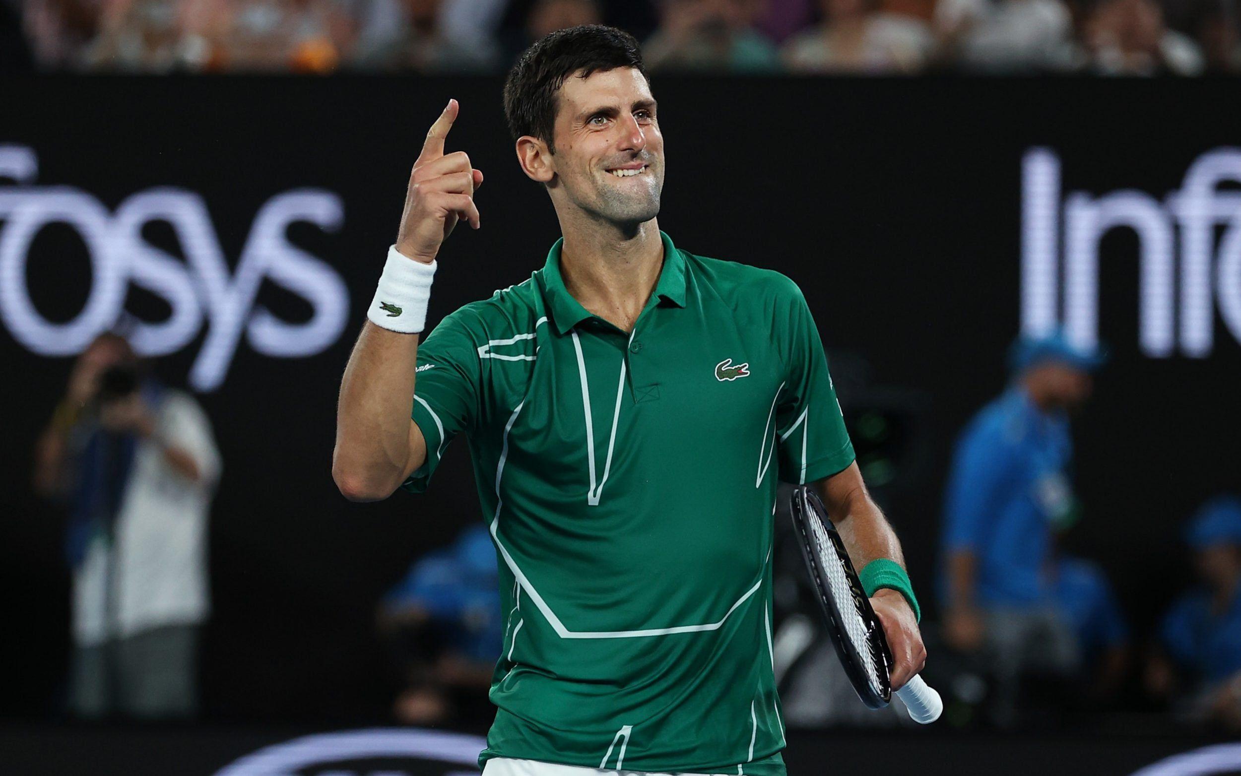 Novak Djokovic Reached To Finals After Defeating Roger Federer In Australian Open 2020 In 2020 Novak Djokovic Roger Federer Players