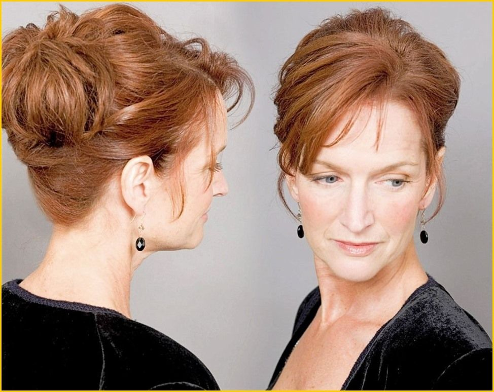 Wedding Hairstyles : Auburn Hair Color For Older Women