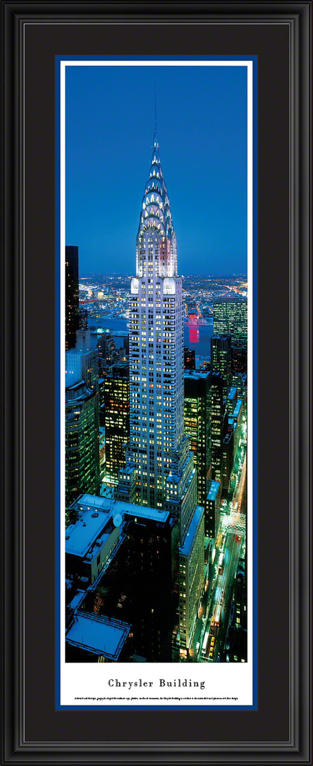 Chrysler Building Panoramic Picture Twilight Vertical Panorama In 2020 Panoramic Pictures Panoramic Picture Frames Panoramic Print