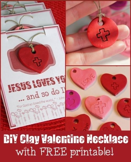 Make a Valentine Necklace with Printable at Faith Gateway