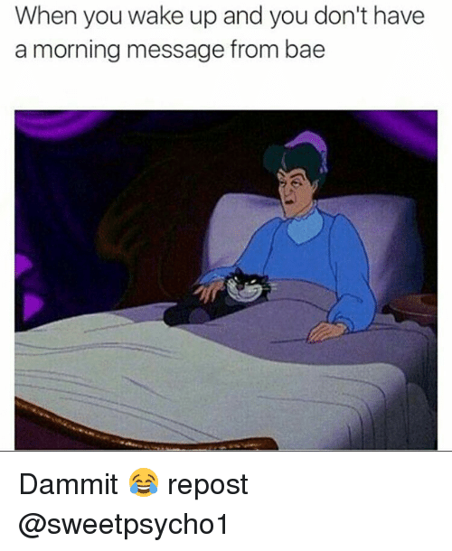 Memes And When You Wake Up When You Wake Up And You Don T Have A Morning Message From Bae Dammit Repost Relationship Memes Fun Quotes Funny Memes