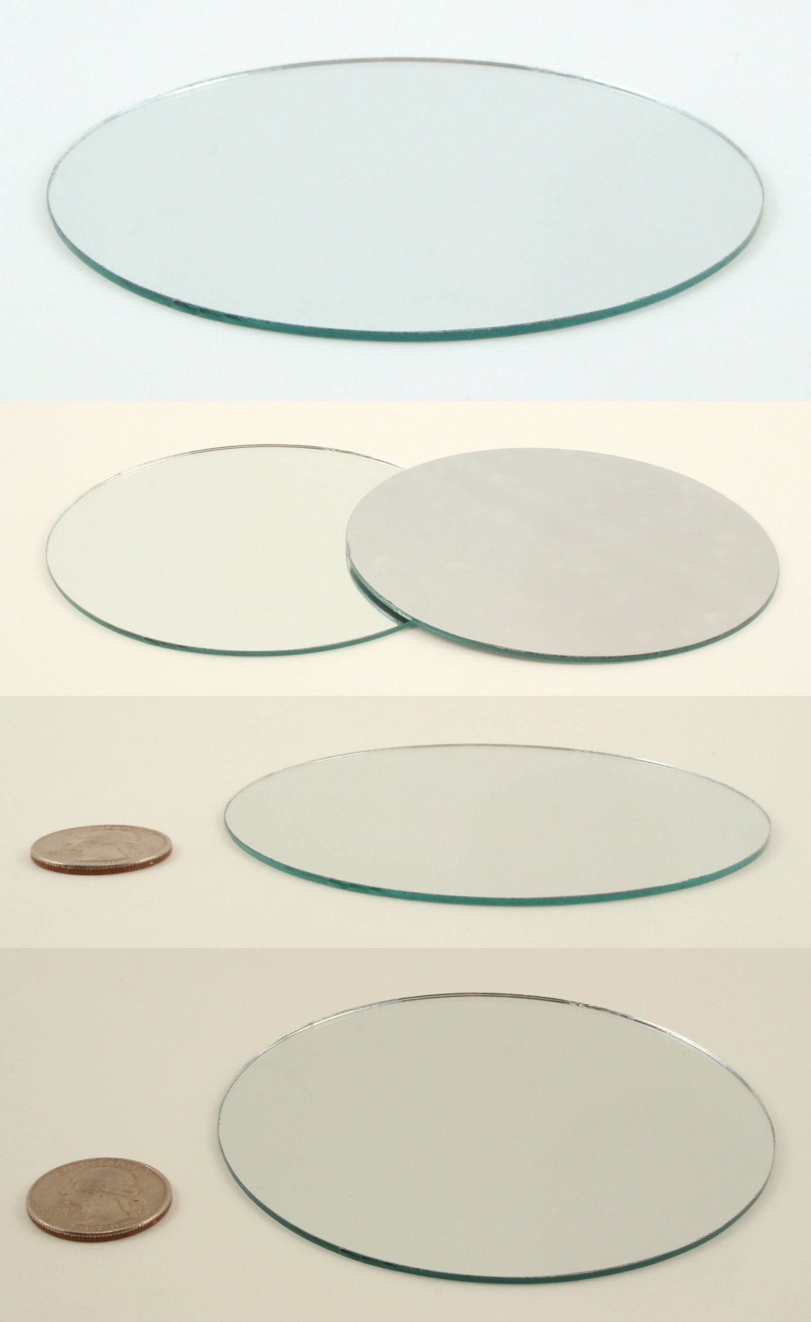 Small round mirrors for crafts - Glass And Mosaic Tiles 160646 4 Inch Glass Craft Small Round Mirrors Bulk 100 Pieces