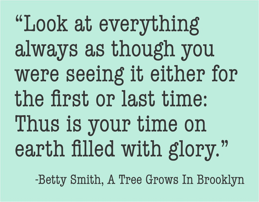 From A Tree Grows In Brooklyn By Betty Smith