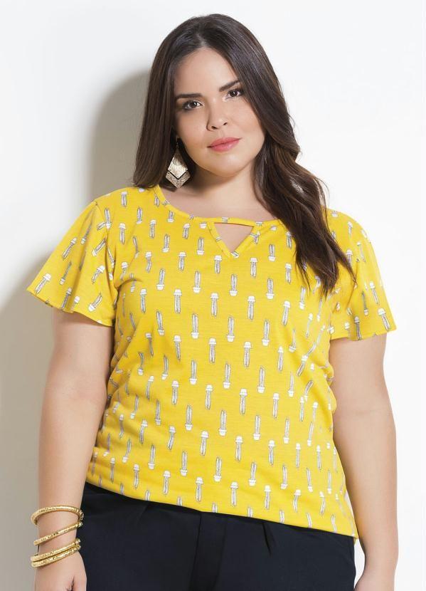 0f325a510e T-Shirt Cactos com Tira Marguerite Plus Size em 2019 | Products ...