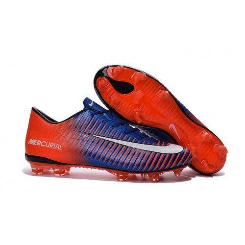 Nike Mercurial Vapor Xi Fg Orange Bla Vit Fotbollsskor For Man Chaussure De Foot Chaussure Nike