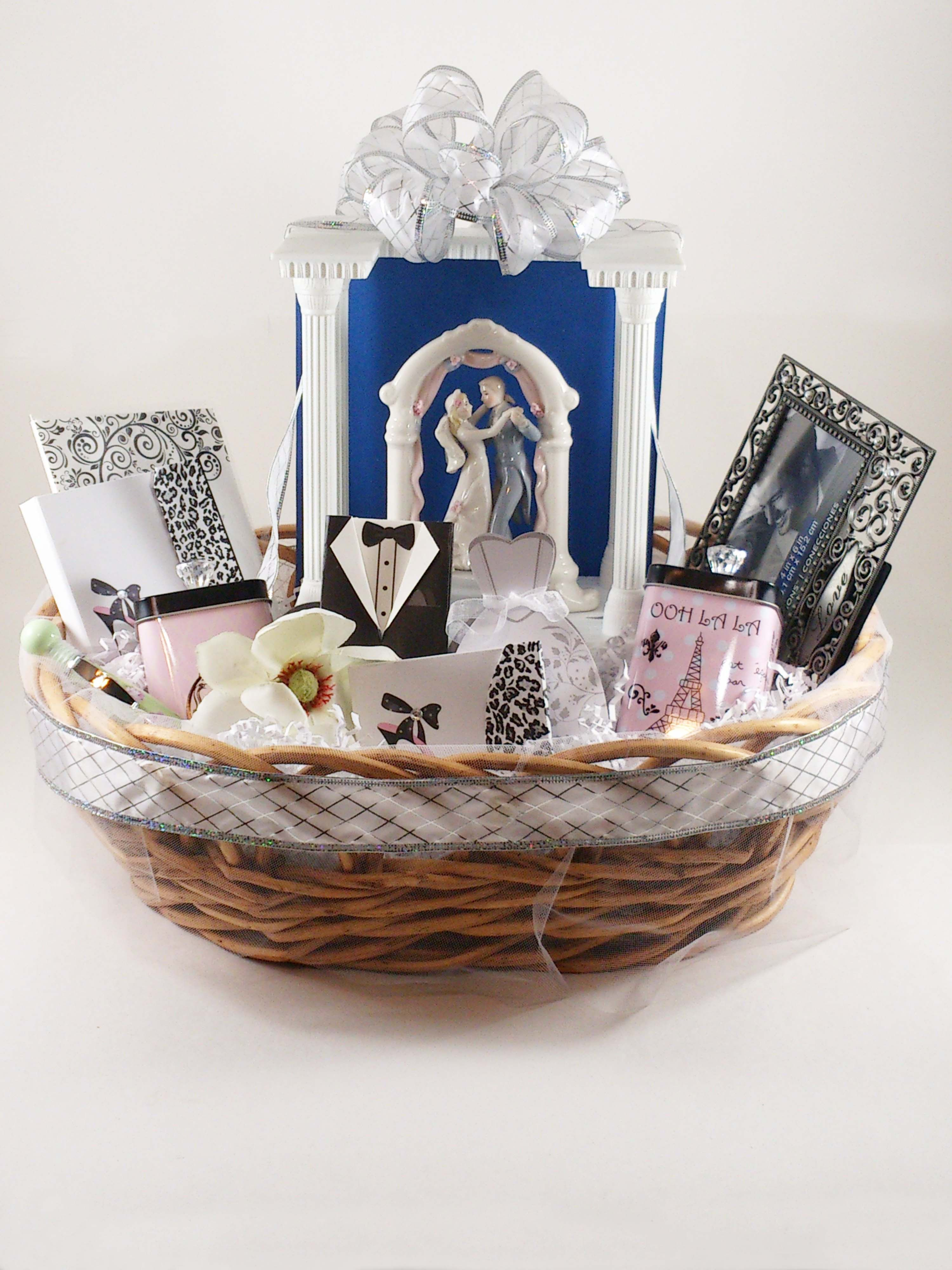 this basket would be a great wedding or bridal shower gift the basket is 18