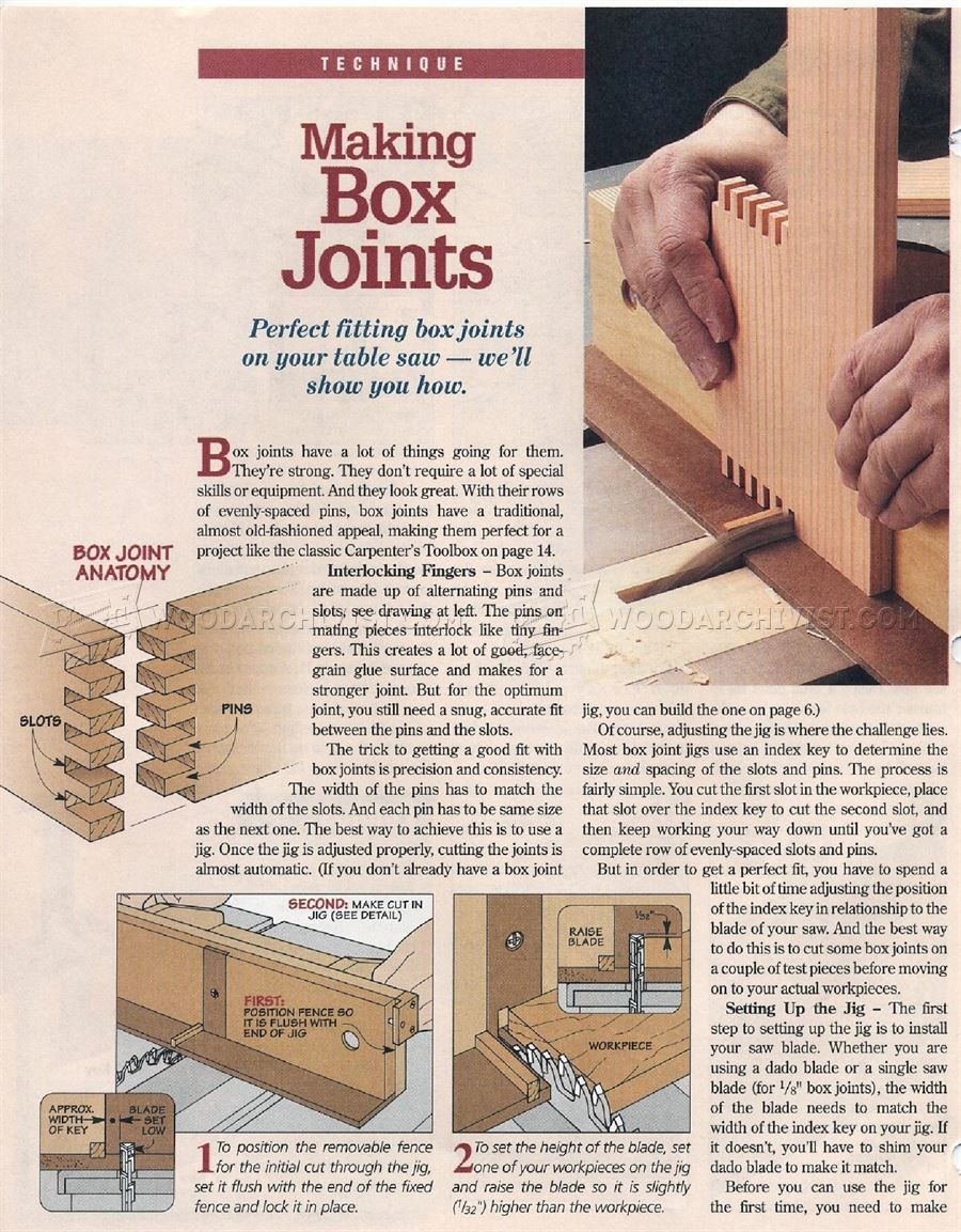 456 Box Joint Jig Plans - Joinery Tips, Jigs and Techniques ...