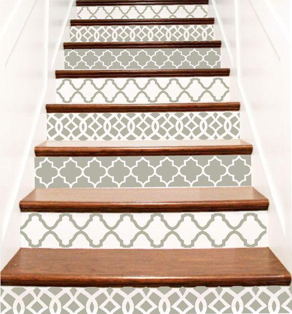 Decorative Vinyl Stair Decals Trellis Two Decor Steps