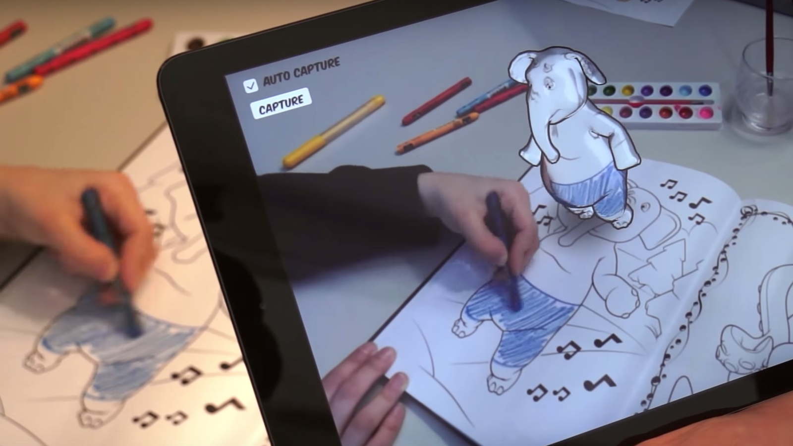 Disney Is Using Augmented Reality To Bring Coloring Books To Life Coloring Book App Coloring Books Augmented Reality