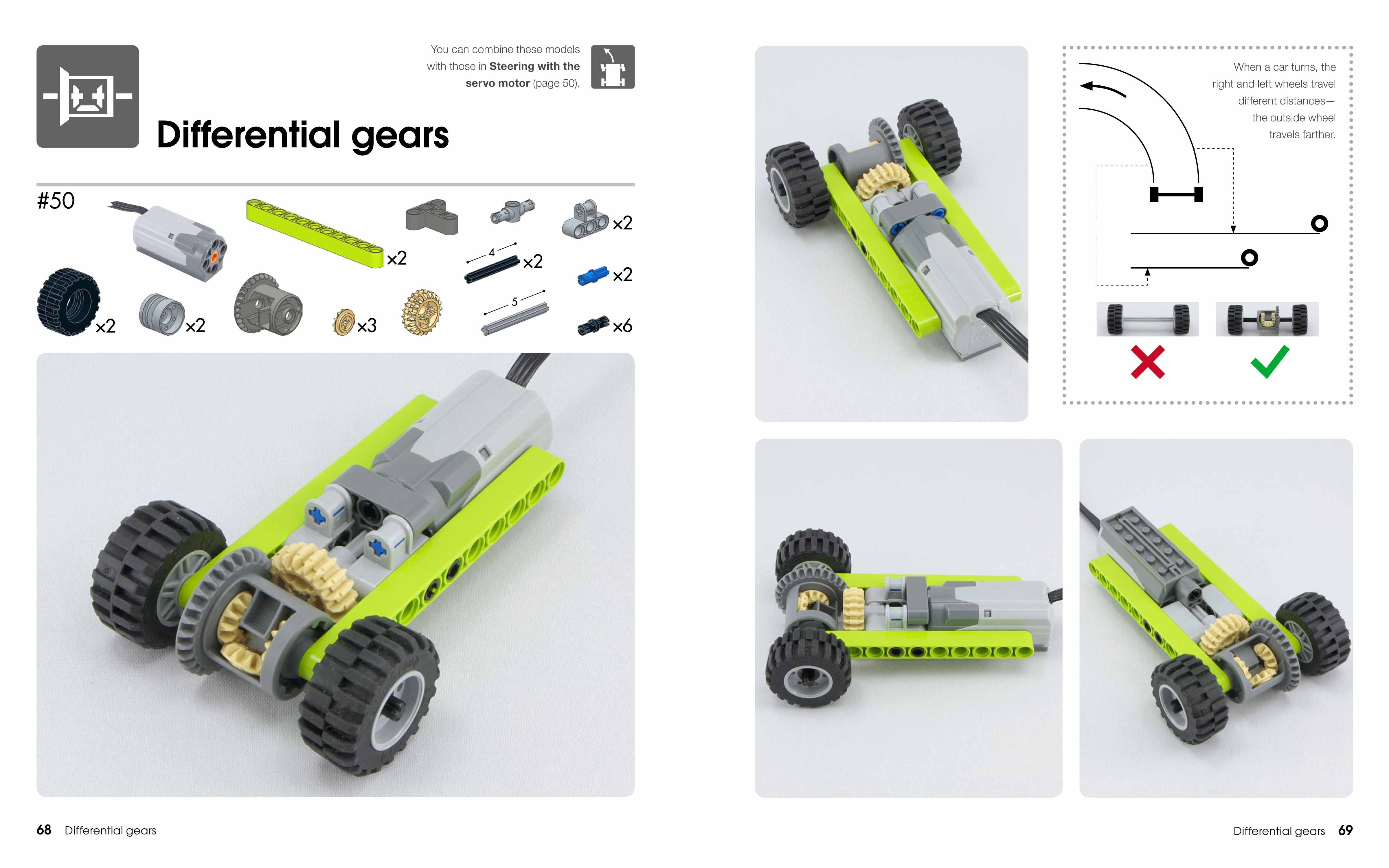 Lego Power Functions Differential Gears | Lego ideas | Lego wedo