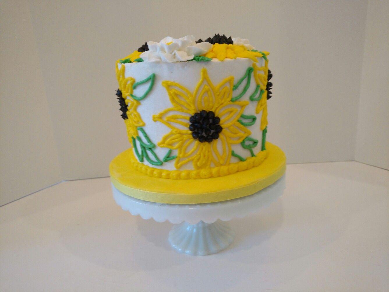 Sunflower Smash Cake