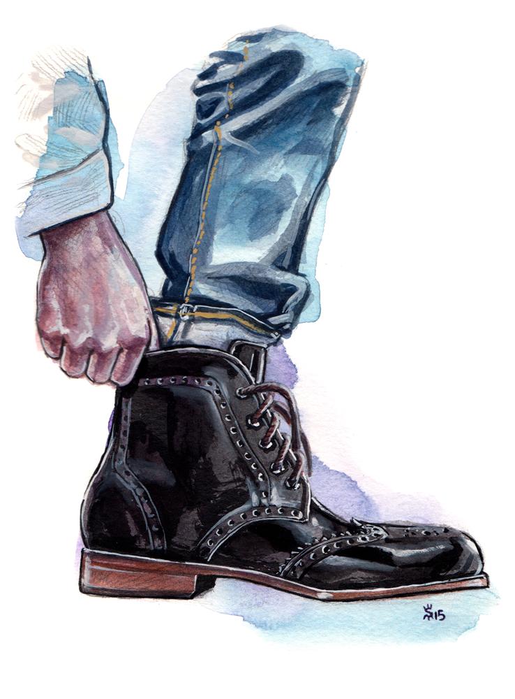 Tawny Goods Black Boot Fashion Illustration By