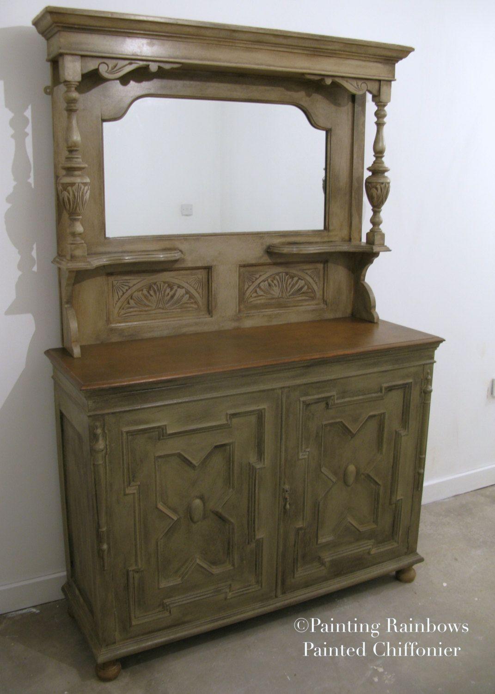 Shabby Chic Chiffonier/buffet dresser,Dresser,Painted, annie sloan,carved