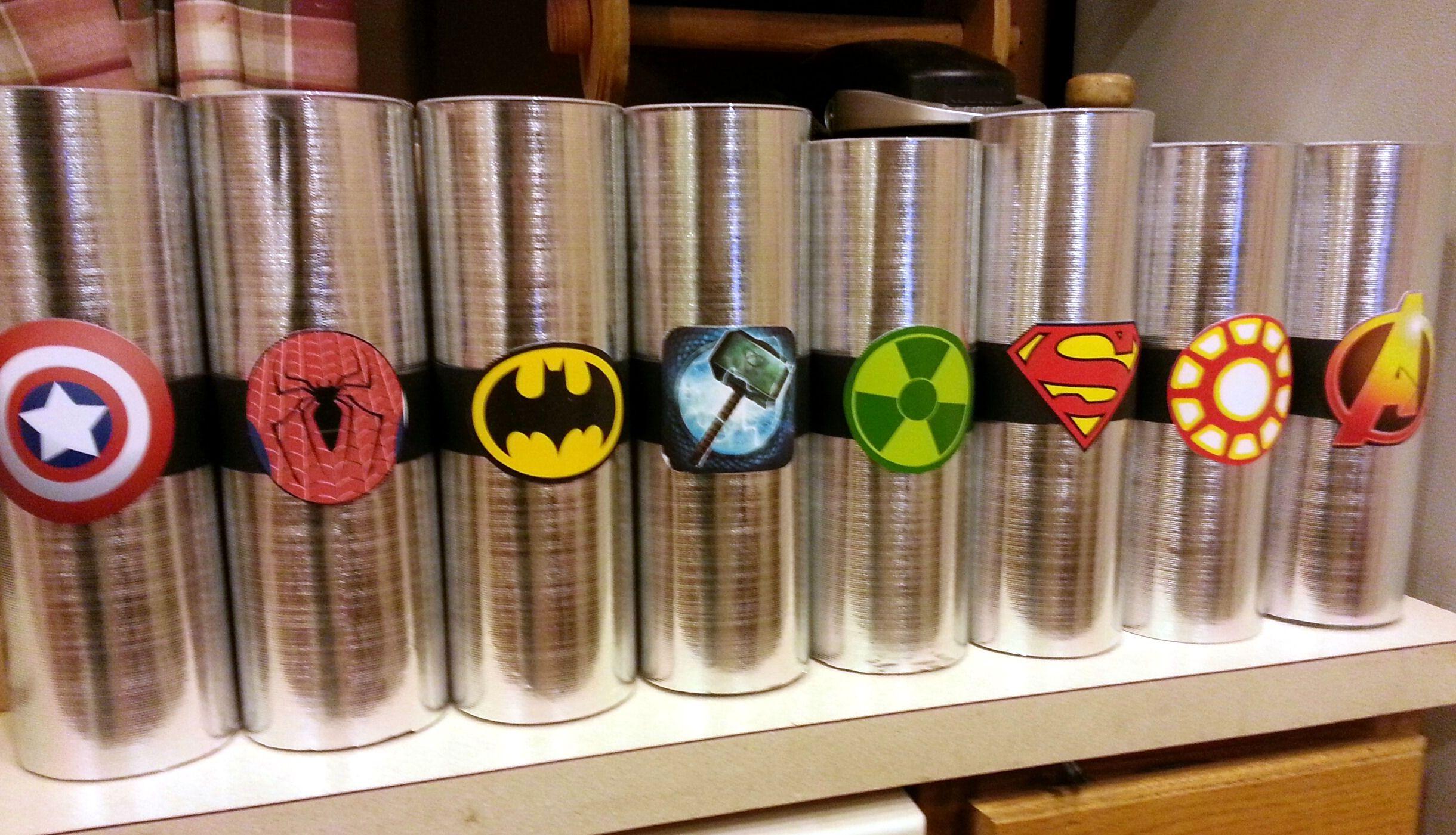 Matrimonio Tema Marvel : Super hero centerpieces close up súper héroes