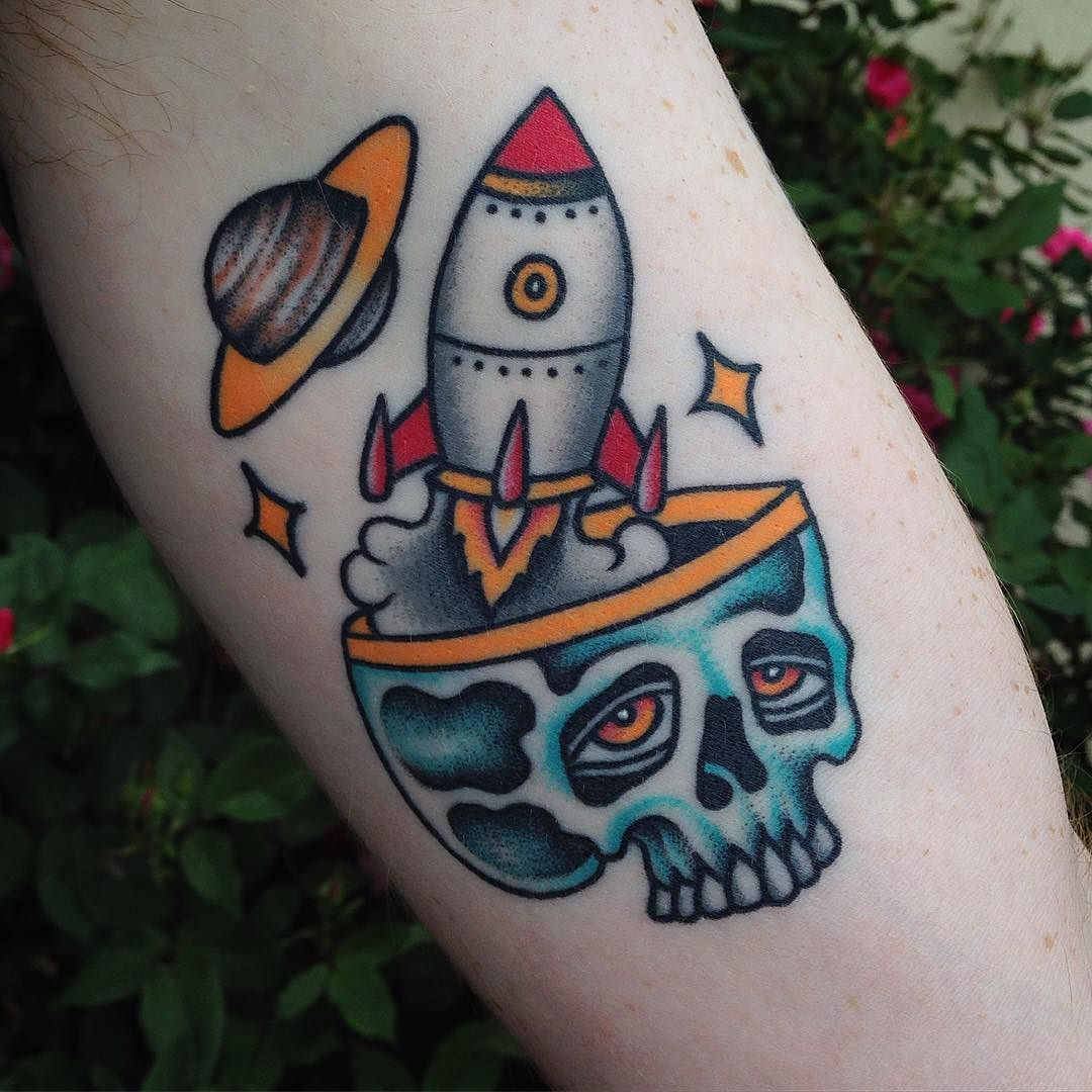 Pin by My Info on Tattoo Ink  Pinterest  School style Rocket