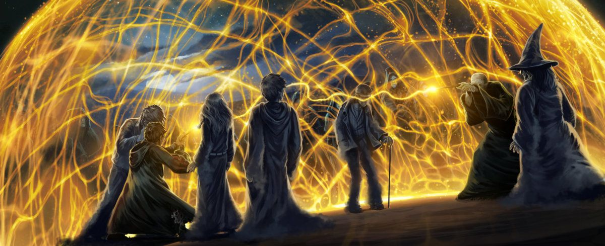 Harry And Voldemort 39 S Wands Connect And Harry Encounters The Victims Of Voldemort Harry Potter Illustrations Harry Potter Artwork Harry Potter Wallpaper
