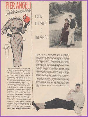 Ingrids Påklædningsdukker: Tempo 1955 Pier Angeli